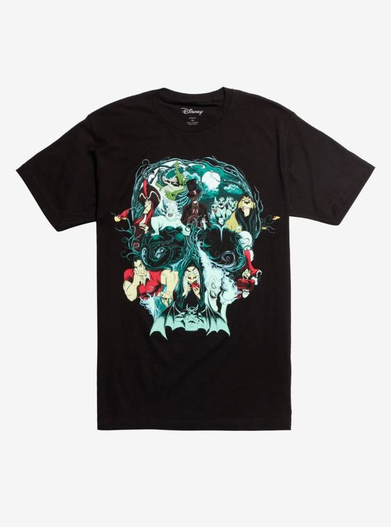 Disney Villains Skull Collage T-Shirt DS01