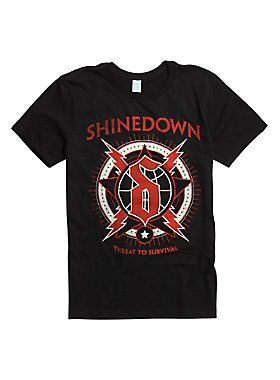 Shinedown Lightning Globe T-Shirt DS01