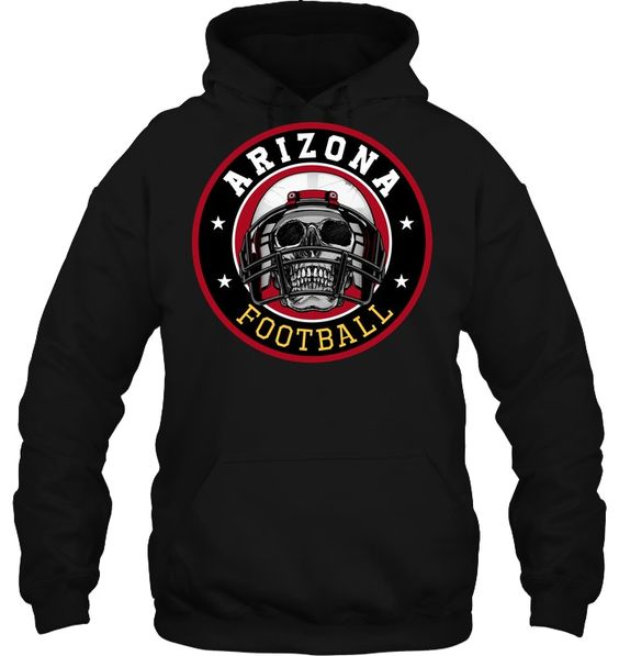 Arizona Football Skull Hoodie SR01