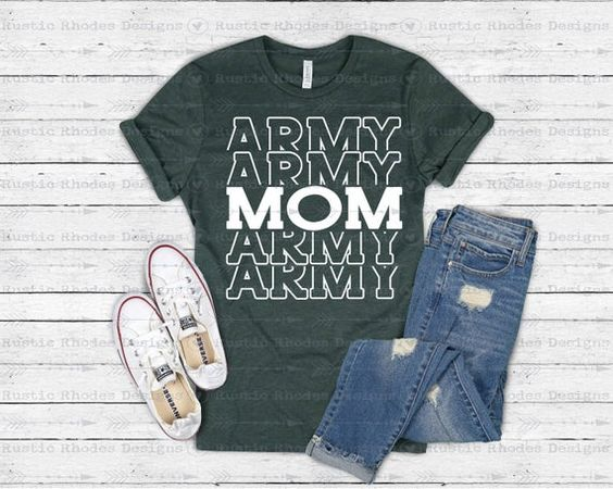 Army Mom T-Shirt VL01