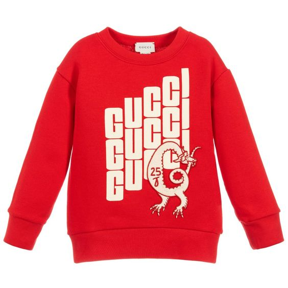 Boys luxury red sweatshirt AV29