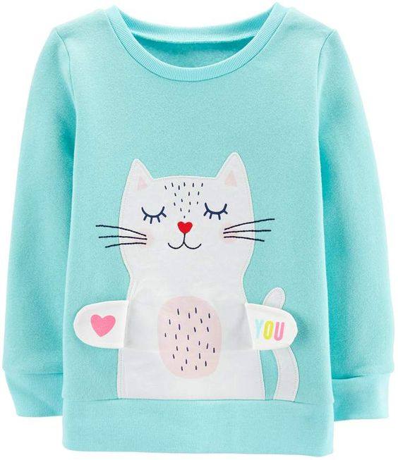 Carter's embroidered kitty Sweatshirt AZ01