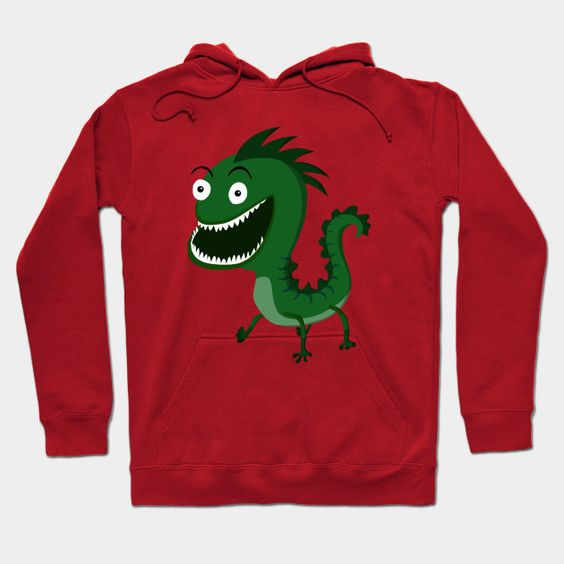 Cheerful Green Monster Hoodie EL