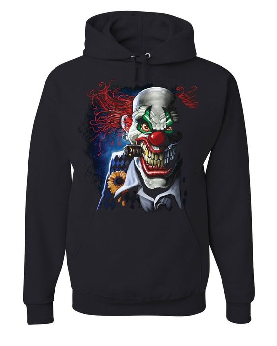 Creepy Joker Clown Hoodie SR01