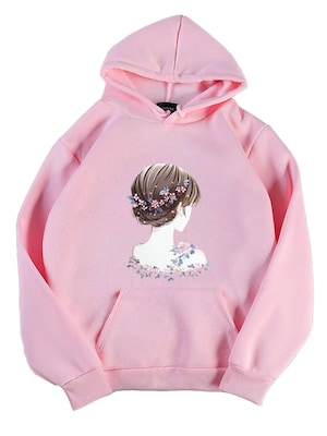 Fashion Girl Figure Hoodie EL01