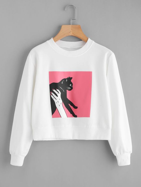Figure Cat Sweatshirt EL01