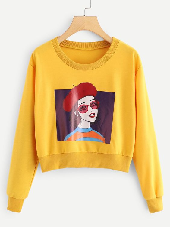 Figure Cute Girl Sweatshirt EL01