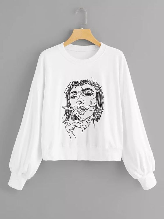 Figure Embroidered Sweatshirt EL01