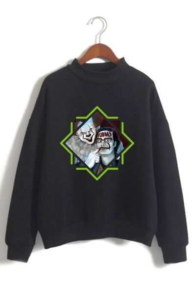 Figure Pattern Sweatshirt EL01