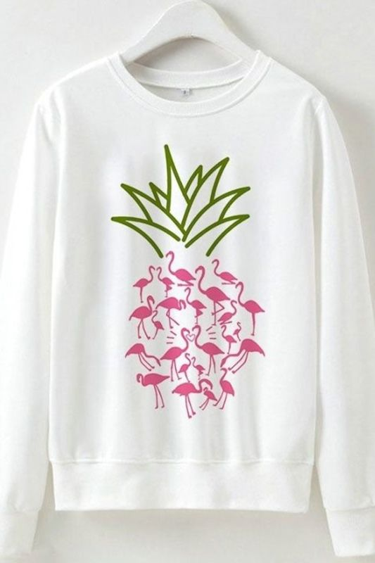 Flamingo Pineapple Sweatshirt FD01