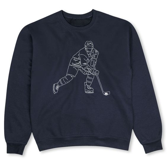 Hockey Crew Neck Sweatshirt SR01