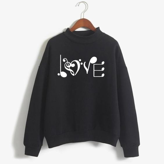 LOVE Music Symbol Sweatshirt AZ01