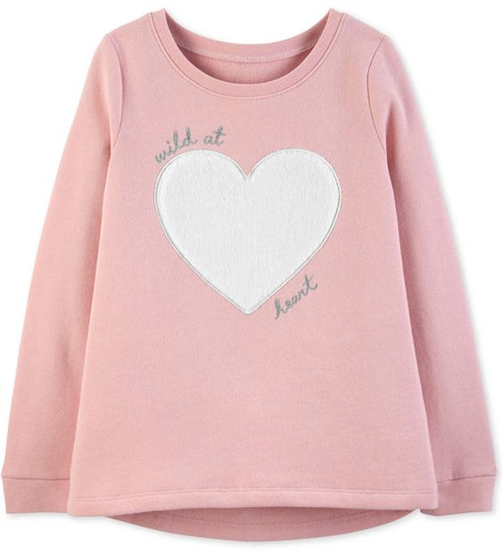 Little & Big Girls Wild at Heart Sweatshirt AZ01