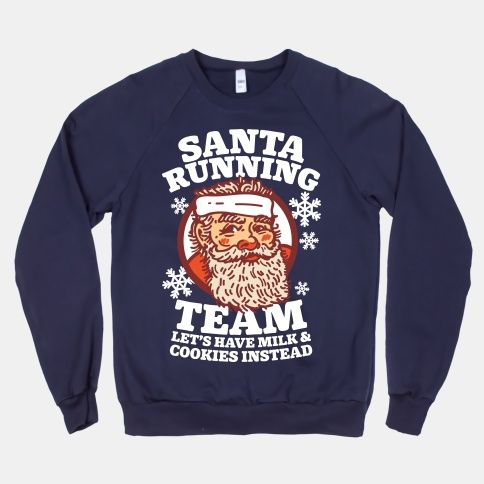 Santa Running Team Sweatshirt EL01