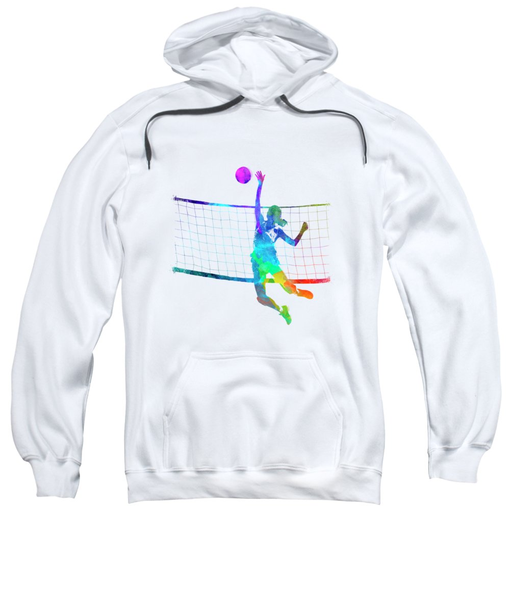 Women Player Volleyball Hoodie SR01