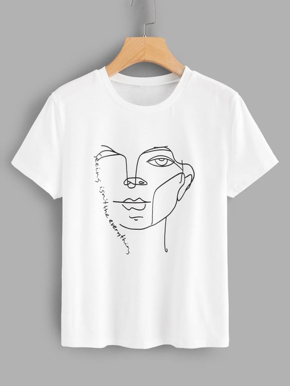 Young Casual White print T-Shirt DV31