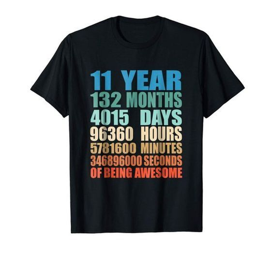 11 Year Old Birthday T-shirt FD2N