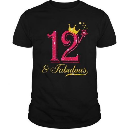 12th Birthday Girl Fabulous T-Shirt FD2N