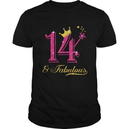 14th Birthday Girl Fabulous T-Shirt FD2N