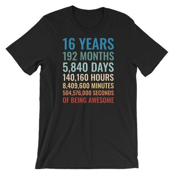 16 Birthday Shirt FD2N