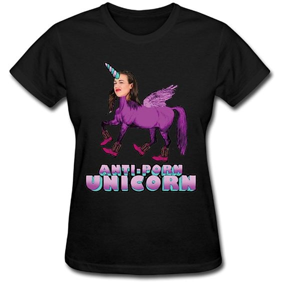 Anti Porn Unicorn T Shirt SR5N
