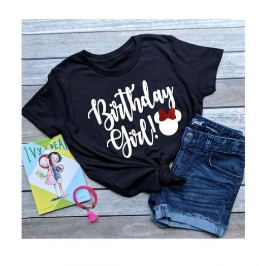 Birthday Girl Minnie Mouse T-Shirt FD2N