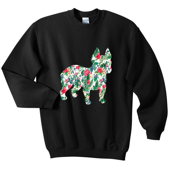 Bulldog Flower Sweatshirt VL22N