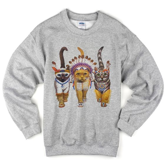 Cat Indians Sweatshirt VL22N