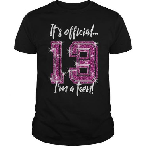 Its Official 13th Birthday T-Shirt FD2N