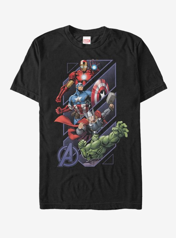 Marvel Four Avengers T-Shirt FD6N