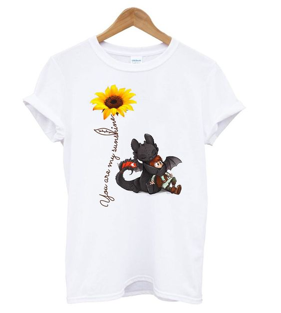 Toothless And Hiccup Dragon Tshirt N14EL