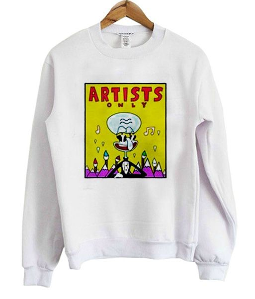 artists squidward sweatshirt EV25N