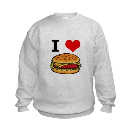 cheeseburgers kids sweatshirt n26ev