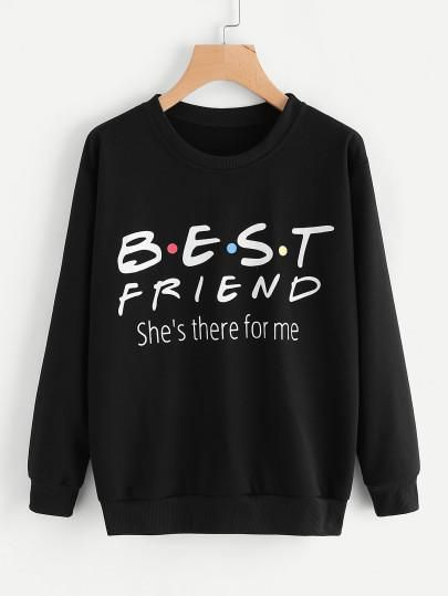 Best friend fashion sweatshirt FD5D