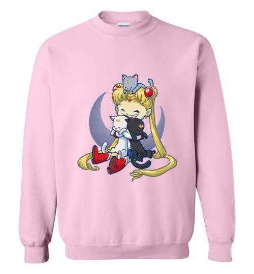 Crazy Moon Cat Lady Sweatshirt FD5D