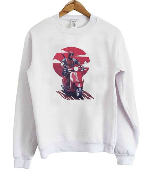 Deadpool Vespa Sweatshirt FD5D