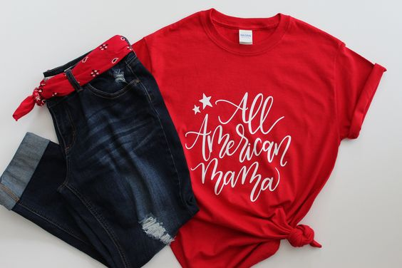 All American Mama T-Shirt ND28J0