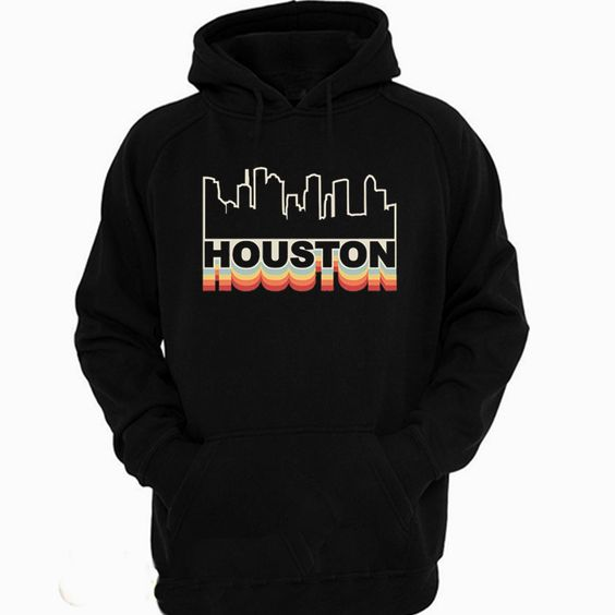 Houston Skyline Rainbow Hoodie FD7F0