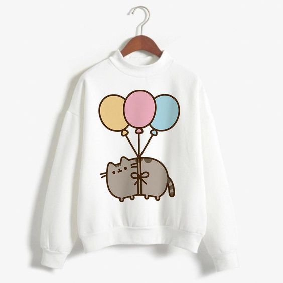 Cat Funny Cartoon Sweatshirt ZR19M0