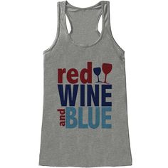 Red Wine And Blue Tanktop TA4M0