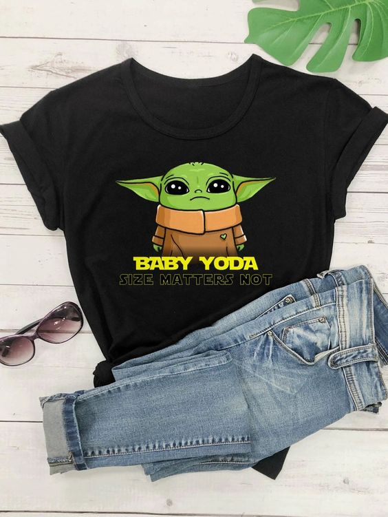 Baby Yoda graphic T Shirt SP4A0
