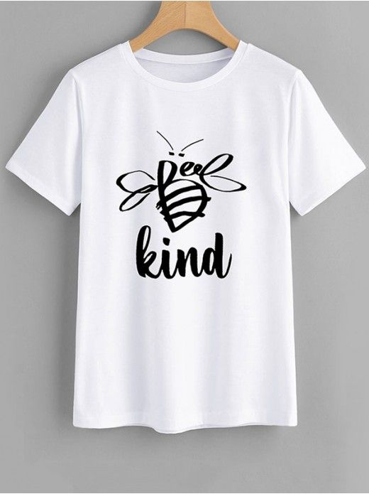 Women Bee kind T Shirt AF2A0