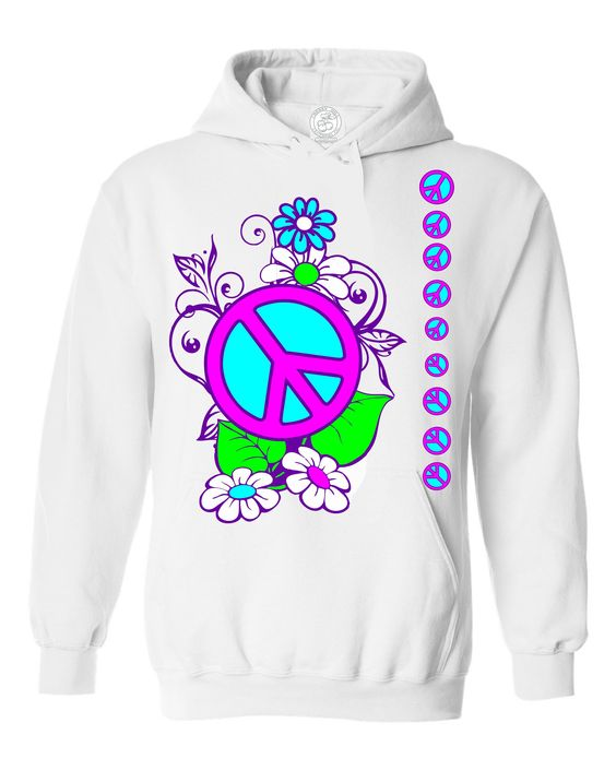 Peace And Flowers Hoodie AS6AG0