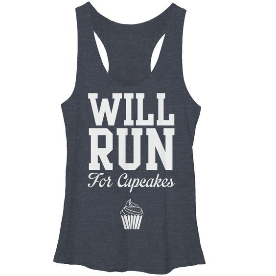 Will Run for Cupcakes Tanktop TU14AG0