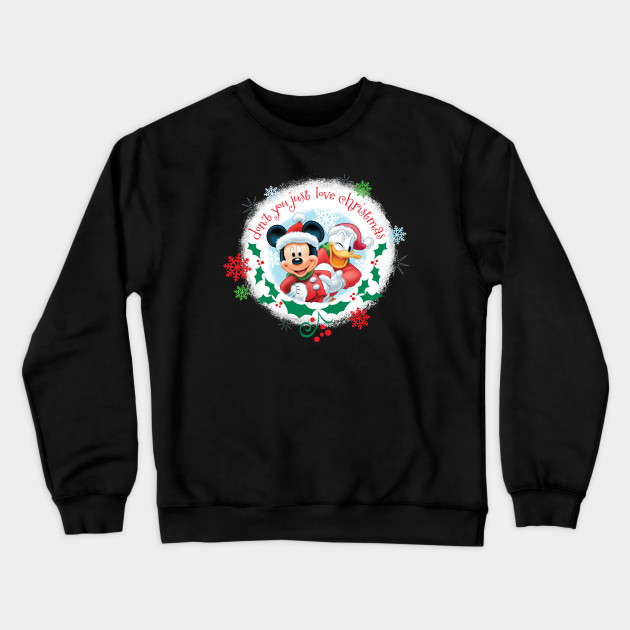 christmas mickey and Donald Sweatshirt FD9N0