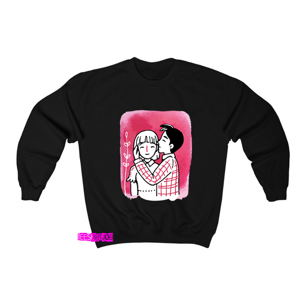 Drawing art valentines day Sweatshirt FD17D0