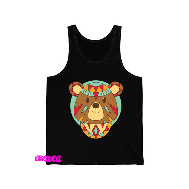 Faces Bear Ethnic Animals Tank Top AL22D0