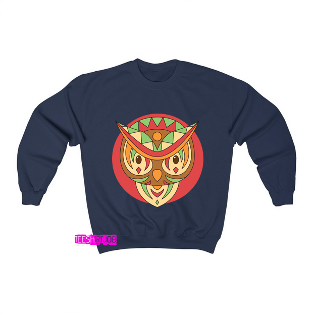 Faces Owl Ethnic Animals Sweatshirt AL22D0