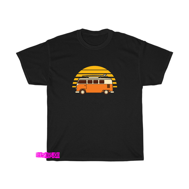 car summer sunset beach T-shirt FD9D0