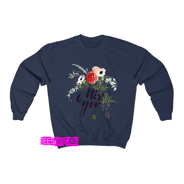 miss-you-typography-with-flowers-all-around-Sweatshirt EL24D0